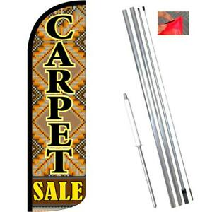 Carpet Sale Windless style Feather Flag Bundle 14 Or Replacement Flag Only 11 5