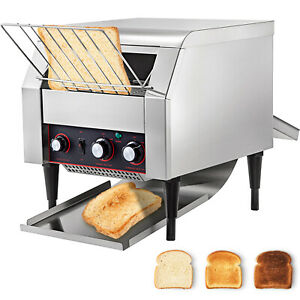 Commercial Electric Countertop Conveyor Toaster 450pcs h Stainless Steel