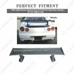 Frp Oe Style Rear Spoiler W Jun Higher Leg For 99 02 Nissan Skyline R34 Gtt Gtr