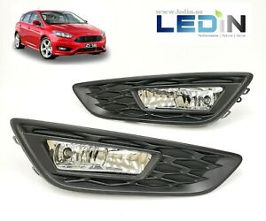 Clear Lens Driving Fog Lights Kit For 2015 2018 Ford Focus W Bezel Bulbs Replace