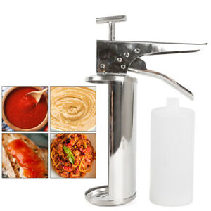 Hand Stainless Steel Spanish Donuts Churros Pastries Filler Filling Machine 1l
