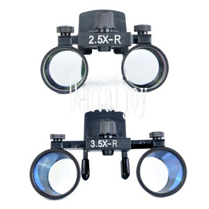 Clip Type 3 5x 2 5x Dental Binocular Loupes Glasses Optical Surgical Magnifier
