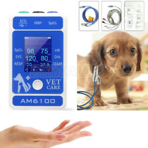 Veterinary New Palm Patient Animal Portable Monitor Multi parameter Am6100