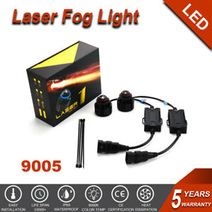 2pcs 9005 Hb3 Led Laser Car Fog Light Bulb Driving Lamp Conversion Spotlight Su