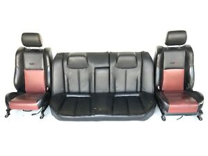 2005 2006 Rare Nissan Altima Se R Oem Front Rear Black Red Leather Seats Set