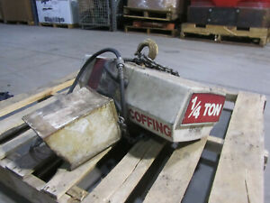 1 4 Ton Coffing Electric Chain Hoist Used