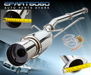 For 03 08 Lancer Evo 8 9 75mm Piping 4 5 Tip 3 Piping Catback Exhaust System