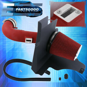 For 11 14 Ford Mustang Boss V8 Air Intake Induction Heat Shield Red Piping Kit