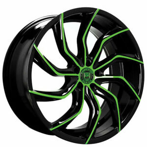 4ea 24 Lexani Wheels Matisse Custom Color Rims s6