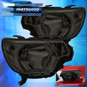 For 12 15 Toyota Tacoma Replacement Headlights Lamps Left right Set Smoked Lens