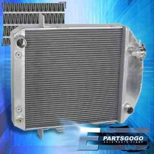 For 1924 1927 Ford Model T Bucket Config Engine 2 row Cooling Aluminum Radiator
