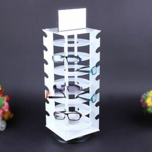 Sunglasses Holder Rack Show Display Stand Organizer 360 Degree Rotating Can Hold