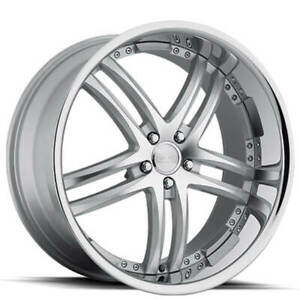 4ea 22 Staggered Concept One Wheels Rs55 Executive Silver Rims s2