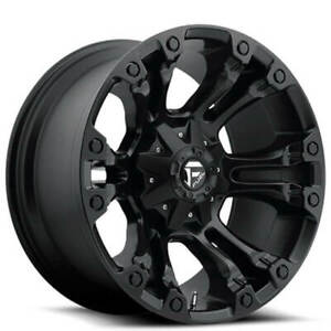 4ea 18 Fuel Wheels D560 Vapor Matte Black Off Road Rims S3