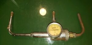 Summit Racing Holley Carb Fuel Rail With Gauge Nice Excellent Condition Bbc Sbc