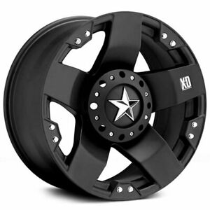 4 18 Xd Wheels Xd775 Rockstar Matte Black Rims S3