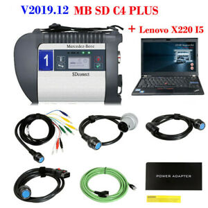 V2019 12 Mb Sd C4 Plus Star Diagnosis Support Doip For Cars truck lenovo X220 I5