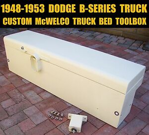 1948 1953 Dodge B series Pickup Custom Heavy Duty Mcwelco Truck Bed Toolbox 48