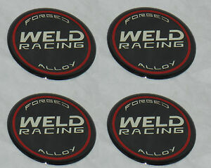 4 Pcs Weld Racing Wheel Emblem Rim Center Cap Sticker Logo 601 3005 2 5 Dia