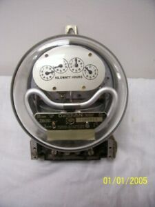 Vintage Wall Duncan 15a Watt Hour Meter 240v Single Phase 3 Wire Free Shipping