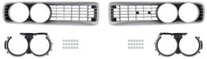 1972 Dodge Charger Front Grill Set Silver