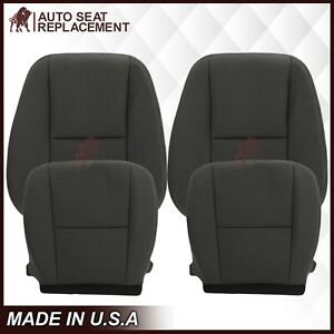 2009 2010 2011 2012 2013 2014 Chevy Silverado Top Bottom Cloth Seat Cover Black