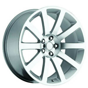 4ea 22 Chrysler 300c Wheels Fr 65 Silver Machined Oem Replica Rims S2