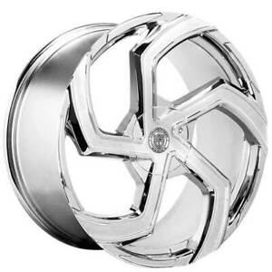 4ea 24 Lexani Wheels Swift Chrome Rims s7