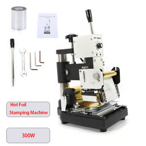New Hot Foil Stamping Printing Machine Tipper Pvc Card Stamper With 2 Foil Paper