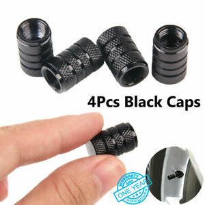4pcs Aluminum Metal Black Alloy Tire rim Valve Air Port Dust Cover Stem Caps