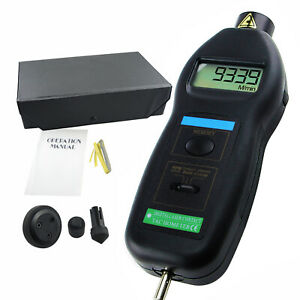 Digital Contact And Non contact Tachometer Laser Photo W Ft