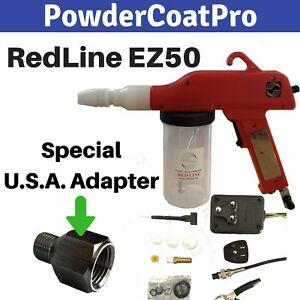 Redline Ez50 Powder Coating Gun With Special Usa Airline Thread