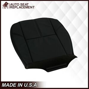 2007 2014 Chevy Silverado Lt Ls Hd Bottom Synthetic Leather Seat Cover Black