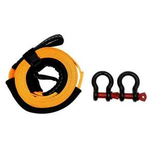 5m 5 Tons Heavy Duty Car Recovery Tow Strap Towing Rope With 2 Tow Hooks Wf