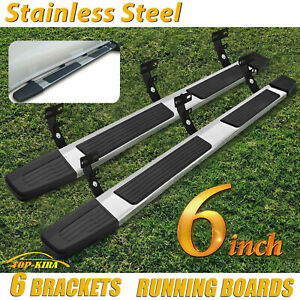 For 09 18 Dodge Ram 1500 Crew Cab 6 Nerf Bar Side Step Running Board S s S