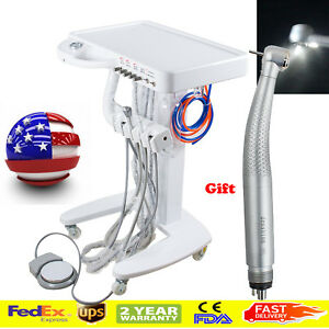 Usa Portable Dental Desk Delivery Unit Cart Moveable Treatment Led Handpiece