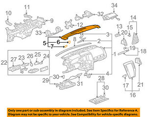 Cadillac Gm Oem 05 11 Sts Instrument Panel Dash Defroster Nozzle 25774060