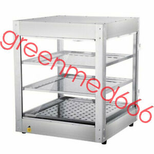 Commercial Food Warmer Countertop Heat Food Pizza Display Warmer Cabinet 3 tiers