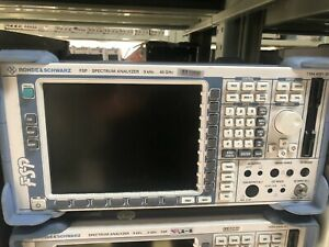 Rohde schwarz Fsp38 Fsp40 Spectrum Analyzer 9khz To 40ghz 0029