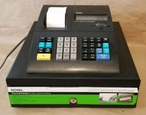 Royal 210dx Electronic Cash Register Thermal Printer Black partially Tested