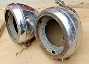 1935 Chevy Master Headlights Original Gm Pair Sealed Beam Conversion