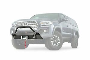 Warn Winch Mount Guard Black For 2016 2019 Toyota Tacoma 100044 Low Profile