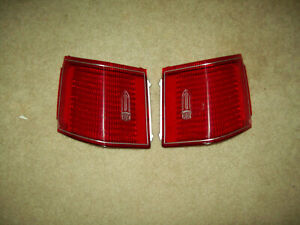 1975 1979 Cadillac Seville Stop Tail Lights Pair Lens Only Nos