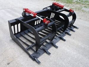 Bobcat Skid Steer Attachment 72 Rock Bucket Tooth Grapple Ship 179