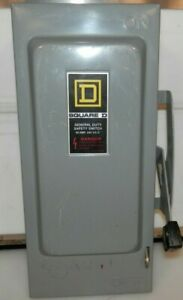 Square D General Duty Safety Switch D222n 60 Amp 240 Vac Fusible
