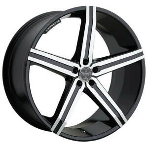 4ea 24 Versante Wheels Ve228 Black Machined 6 Lugs Rims S2