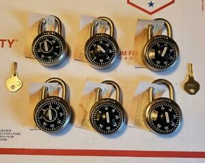 6 Master Locks Combination Padlock With 2 Keys Great For School Gym Work Lockers