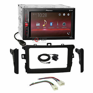 Pioneer Usb Bt Camera Input Stereo Dash Kit Harness For 2009 13 Toyota Corolla
