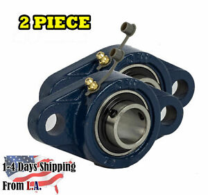 Ucfl202 10 Pillow Block Flange Bearing 5 8 Bore 2 Bolt Solid Base 2pcs