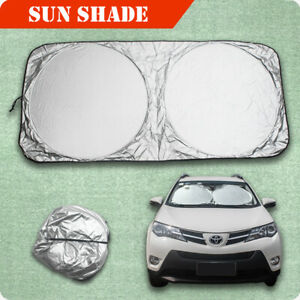 Folding Cover Truck Car Front Rear Window Sun Shade Visor Windshield Foldable